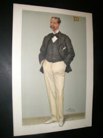 Vanity Fair Print 1901 Thomas Johnstone Lipton, Yachting
